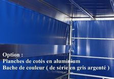 Cadre et bâche pour remorque TWINS de 257 Cm x 157 Cm x 120 Cm intérieur - AR00413