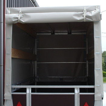 Cadre et bâche pour remorque TWINS de 257 Cm x 157 Cm x 150 Cm intérieur - AR00414