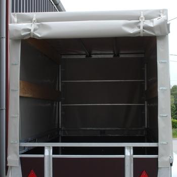 Cadre et bâche pour remorque TWINS de 307 Cm x 132 Cm x 120 Cm intérieur - AR00416