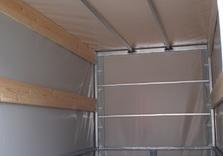 Cadre et bâche pour remorque TWINS de 307 Cm x 132 Cm x 140 Cm intérieur - AR00417