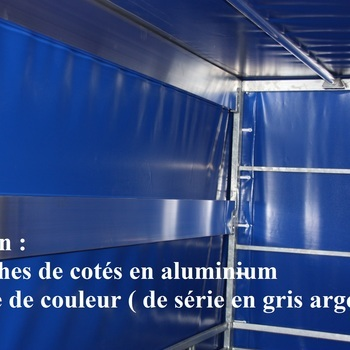 Cadre et bâche pour remorque TWINS de 307 Cm x 132 Cm x 150 Cm intérieur - AR00289