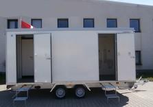 Toilettes type 1 - 370 x 250 x 210 Cm - 1300 Kg avec frein - AR00958