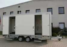 Toilettes type 2 - 520 x 250 x 210 Cm - 2000 Kg avec frein - AR00959