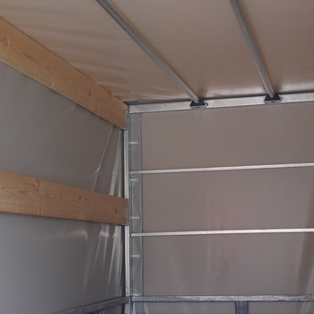 Cadre et bâche pour remorque TWINS de 307 Cm x 157 Cm x 120 Cm intérieur - AR00418
