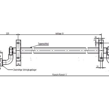 Essieu KNOTT 750 Kg sans frein de 110 Cm large - AR00602