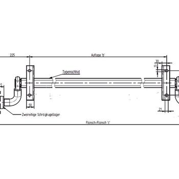 Essieu KNOTT 750 Kg sans frein de 125 Cm - AR00059