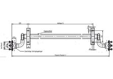 Essieu KNOTT 750 Kg sans frein de 130 Cm large - AR00603
