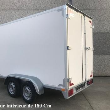 Fourgon Twins double essieux - 257 x 132 x HI 150 Cm - AR00703