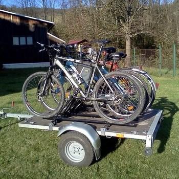 Porte vélos pour 4 vélos sur remorque Walltrailer W750 - AR00342