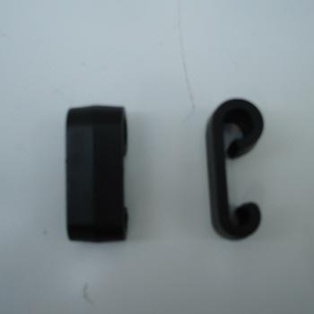 Crochet en ABS noir pour tendeur élastique - AR00307