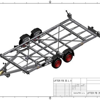 LIFTER FB II 25 L - 2500 Kg freinée - Abaissement hydraulique - 450 x 185 Cm - AR00833
