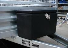 Coffre de rangement en ABS noir - AR00200