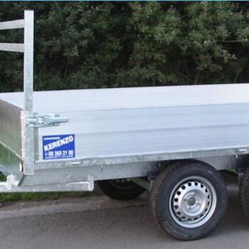 Remorque plateau Kerenzo 262 x 150 Cm , 750 Kg sans frein - AR00988
