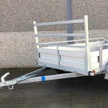 Remorque aluminium simple essieu Kerenzo - 225 x 132 Cm