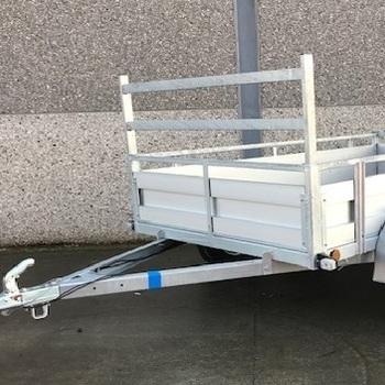 Remorque aluminium simple essieu Kerenzo - 257 x 132 Cm