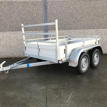 Remorque aluminium double essieux Kerenzo - 200 x 132 Cm