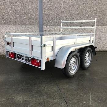 Remorque aluminium double essieux Kerenzo - 257 x 132 Cm