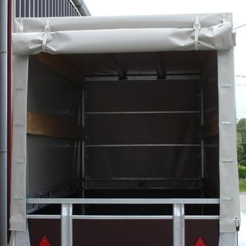 Cadre et bâche pour remorque KERENZO de 175 Cm x 100 Cm x 150 Cm intérieur - AR00281