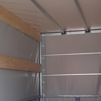Cadre et bâche pour remorque KERENZO de 200 Cm x 110 Cm x 120 Cm intérieur - AR00282